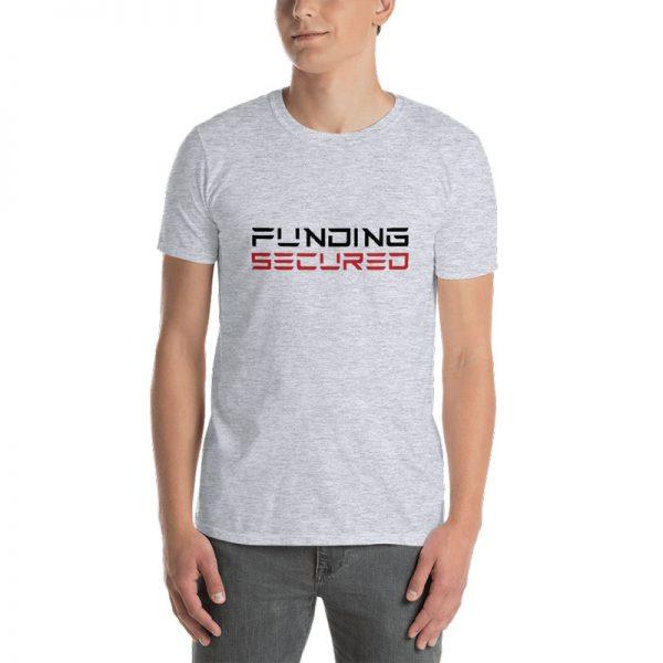 Funding Secured T-Shirt: Tesla Font - Sport Grey