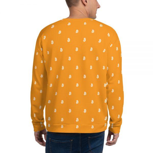 Bitcoin Sweatshirt - men's back