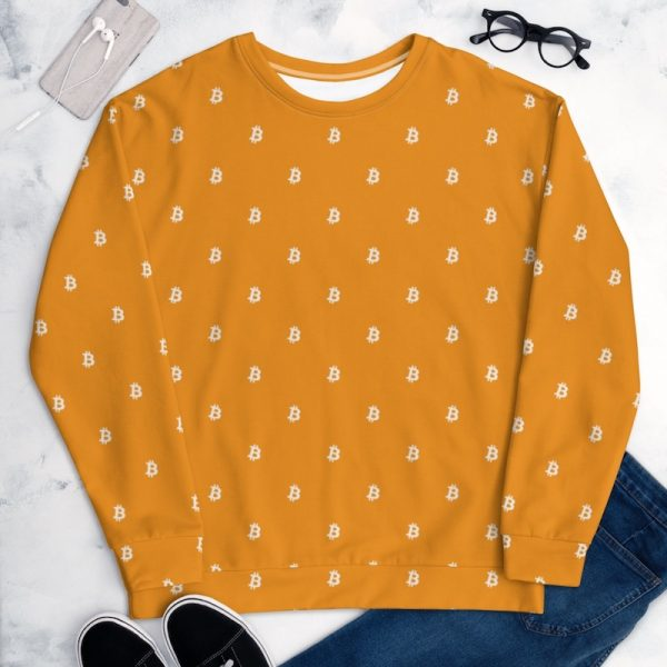 Orange Bitcoin Sweatshirt