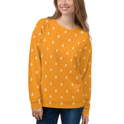 Orange Bitcoin Sweatshirt - front