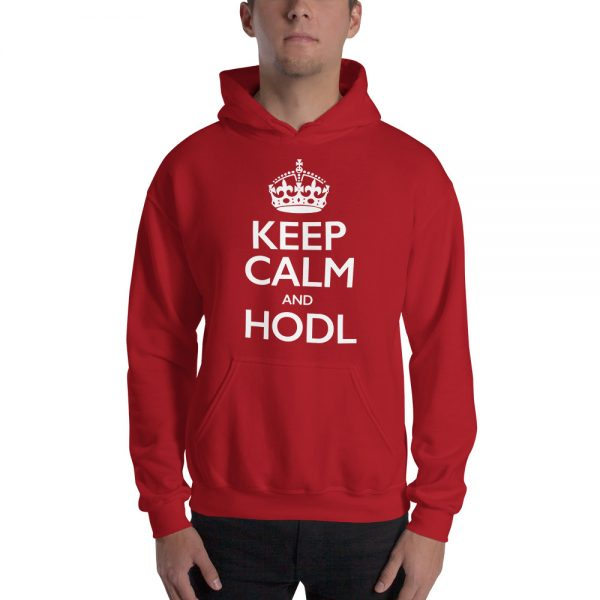 Keep Calm and HODL Hoodie - Red