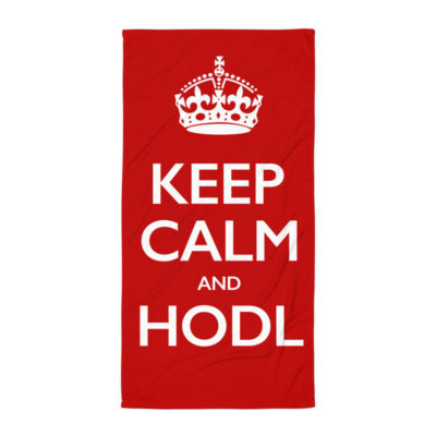 Keep Calm And HODL Towel