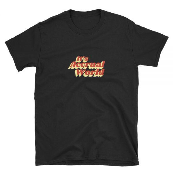 it's accrual world shirt - black
