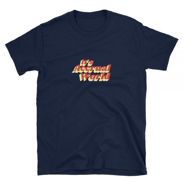 it's accrual world shirt - navy