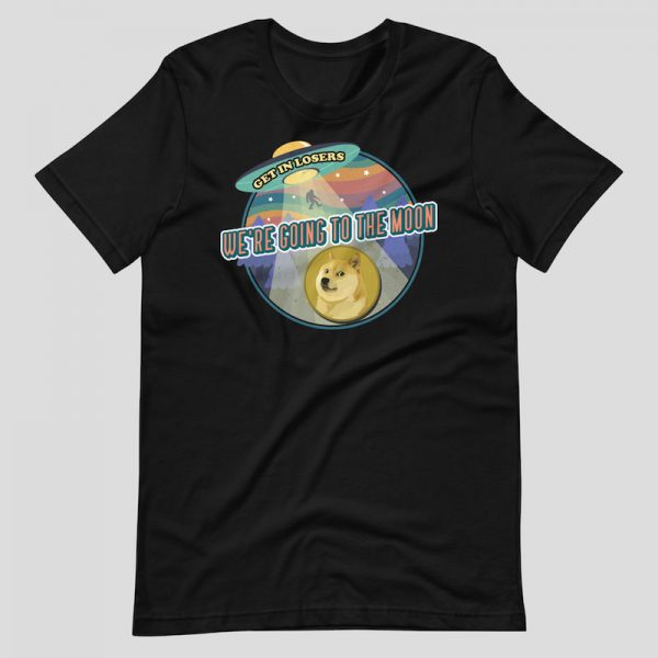 Dogecoin We're Going to the Moon Shirt - black