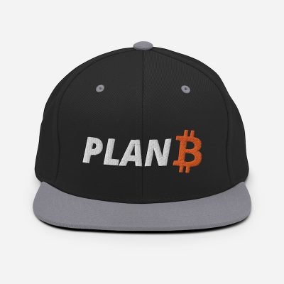 Plan B Bitcoin Hat - Silver