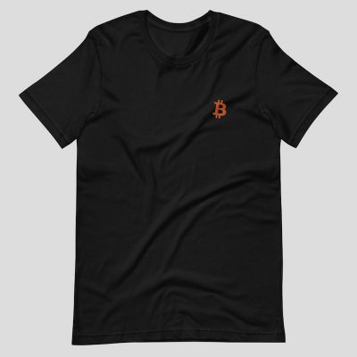 Embroidered Bitcoin Shirt - black
