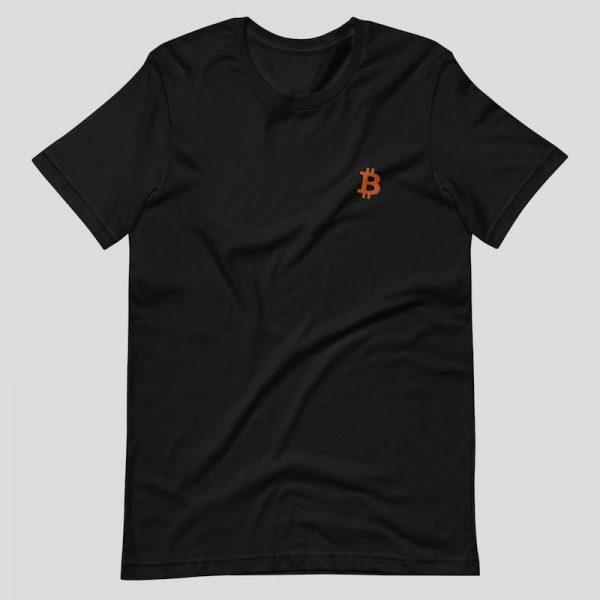 Embroidered Bitcoin Shirt - black