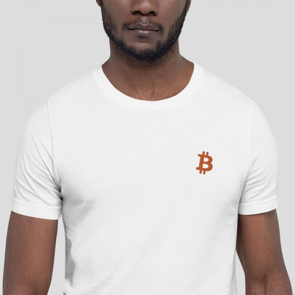 Embroidered Bitcoin Shirt - model